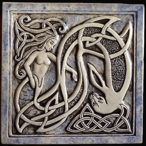 Celtic ceramic tile