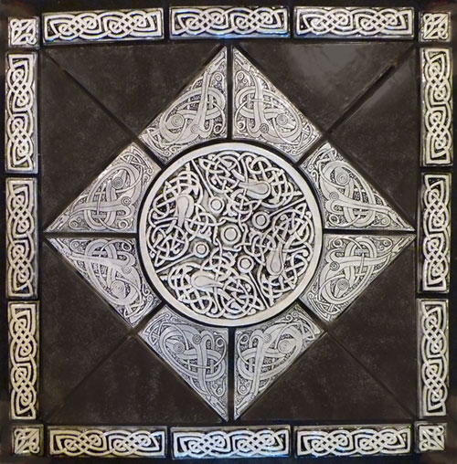 decorative celtic tile set