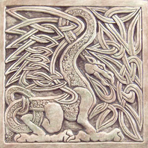celtic dragon tile