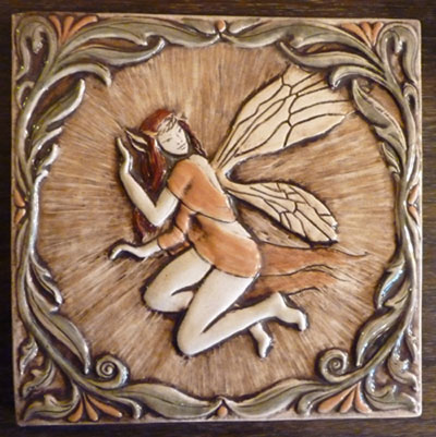 decorative faerie tile