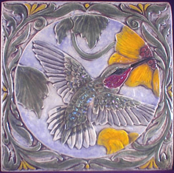 decorative ceramic bird tile