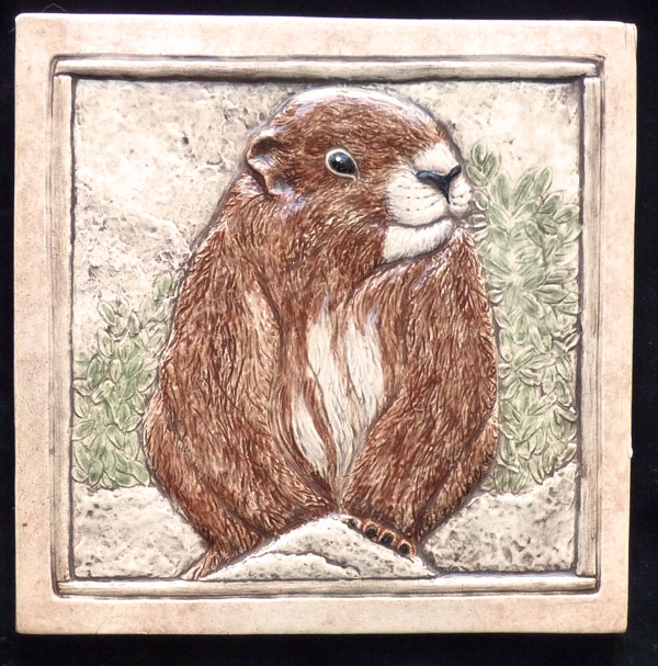 decorative ceramic marmot tile