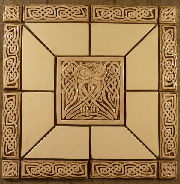 celtic owl tile set