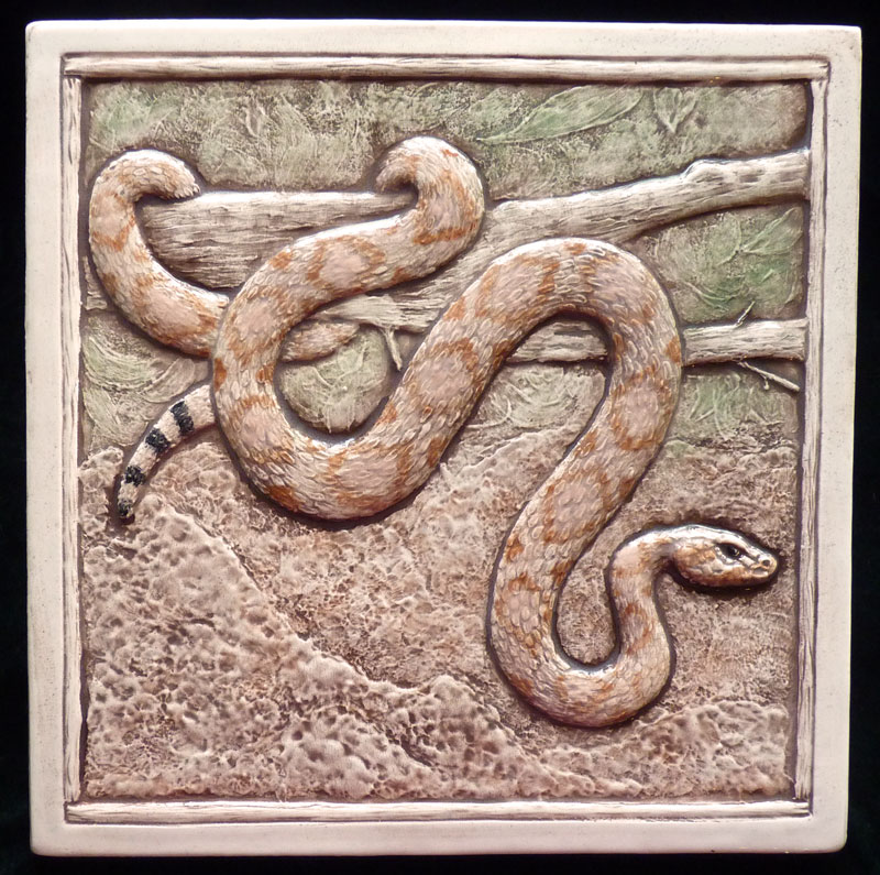 decorative ceramic snake tile